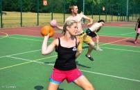 Bulldog team dodgeball throw